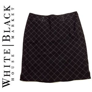 White House Black Market Plaid Skirt